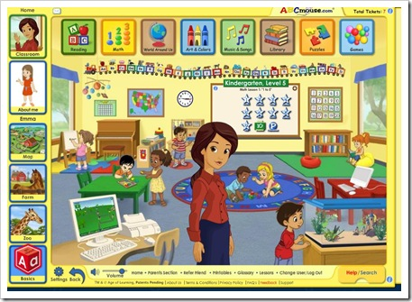 abcmouse classroom screen