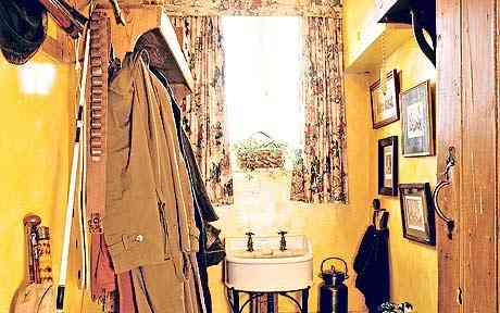 Interior pattern A normal cloakroom with coats and clutter