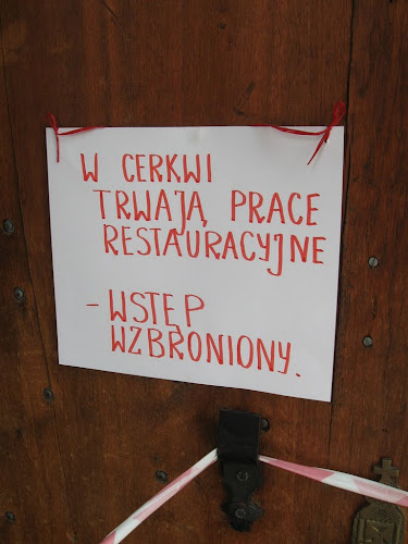 Góra Grabarka - prace restauracyjne w cerkwi ;)