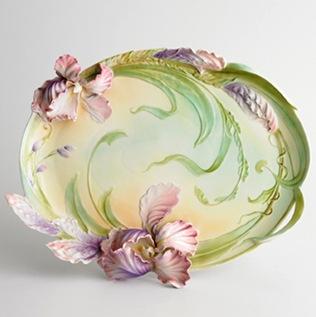 iris ceramic platter