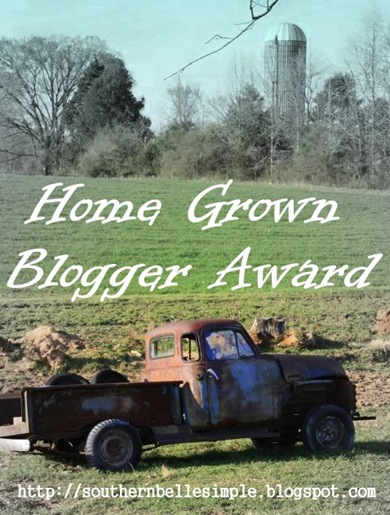 home grown blogger award