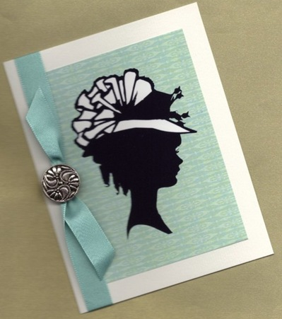 etsy card silhouette