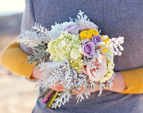 dusty miller bridal bouquet