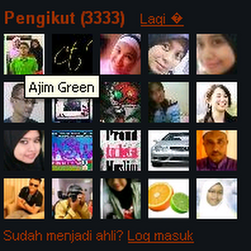 Follower bertuah .. 3333 ... AJIM GREEN