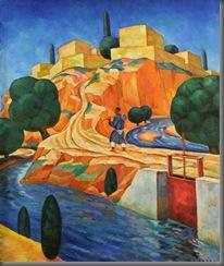 Nikolai Karahan. The Road to Kishlak (1931).