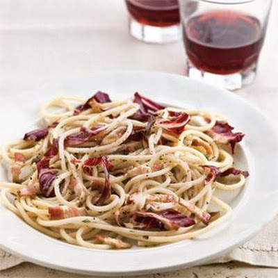Spaghetti with Radicchio and Bacon