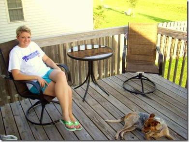 Bistro set with Hank