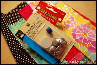 Make Fabric Covered Push Pins