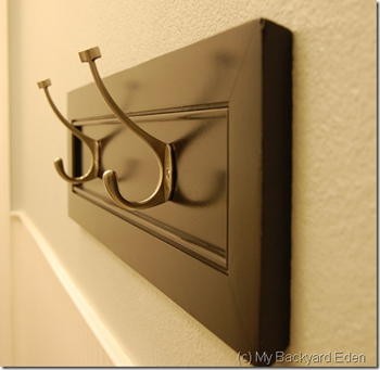 Towel Hook Cabinet Door Revamp