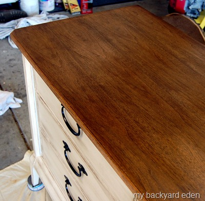 Walnut dresser top