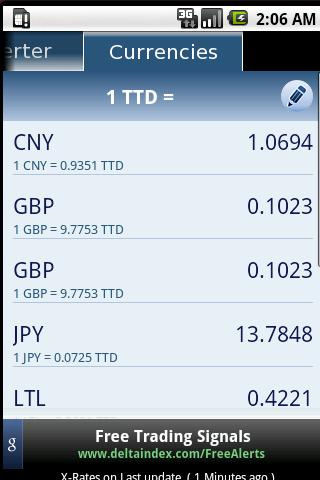 currency-converter for android screenshot