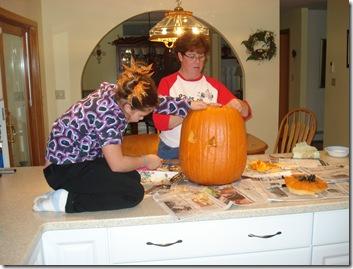 Carving pumpkins Halloween 2010 056