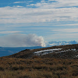 There was a large fire south of Mono Lake, east of Lee Vining.