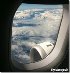 birds eye view, looking out of an airplane