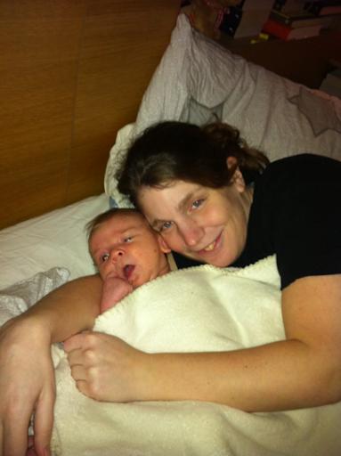 Oskar med mamma Eva