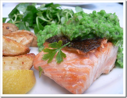 Maggie Beer's Salmon with Pea Salsa