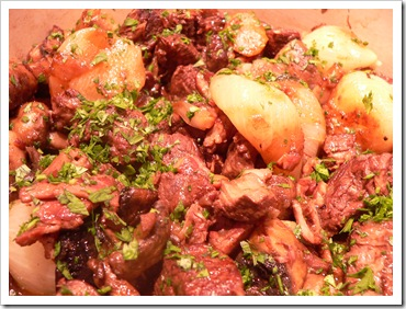 Boeuf Bourguignon close-up