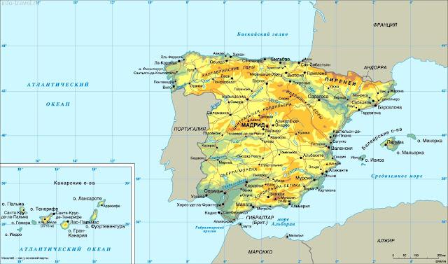 Испания, Коста Бланка, Королевство, costablancavip, карта Испании