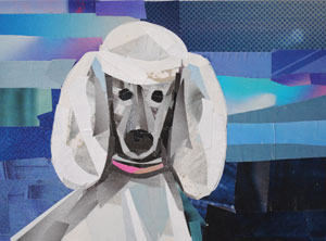 Poodle by collage artist Megan Coyle
