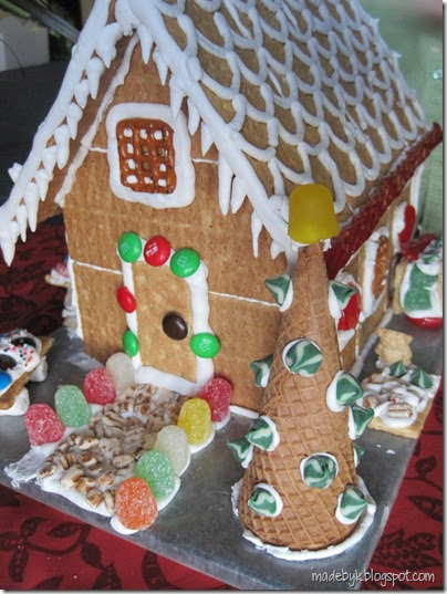 "Made By K: Graham Cracker ""Gingerbread"" House"