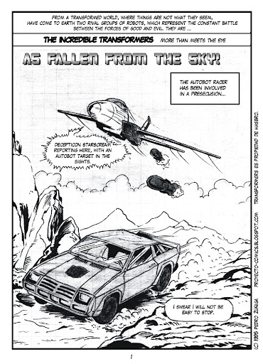 Comics Project - Transformers - As fallen fron the sky - page 01