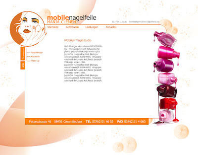 Webdesign Kosmetik | Nageldesign