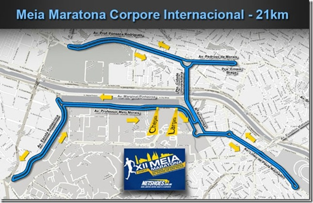 Percurso - Meia Maratona Corpore