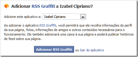 Adicionar RSS Graffiti