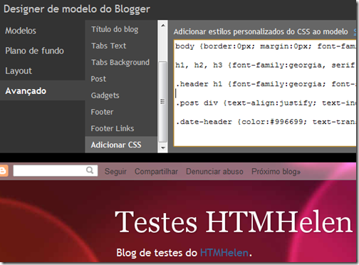 Adicionar CSS