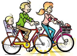 Famlia de bicicleta - Imagem do site Envolva-se