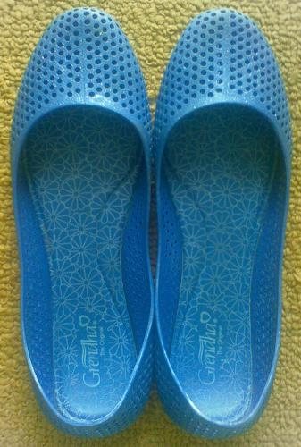 Grendha Pop Azul Glitter