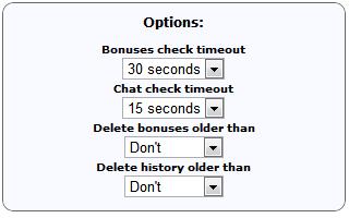 Opções do fgs