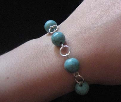 Howlite Bracelet Close Up