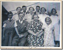 Pias farmor og farfar med deres børn