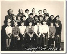 4. kl. Tårs skole 1965
