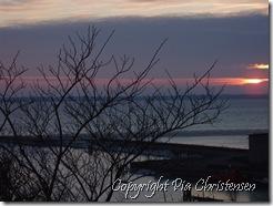 Solnedgang ved Storstrømsbroen
