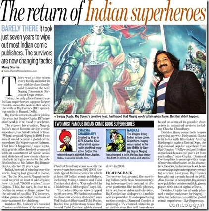 The Return of Indian Superheroes - Hindustan Times 02152009