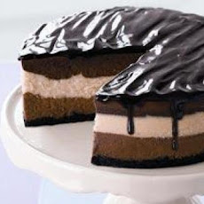 Triple Chocolate and Vanilla Cheesecake