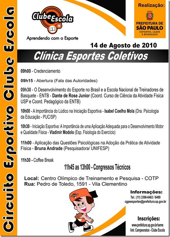 Convite - Clínica Esportes Coletivos Oficial