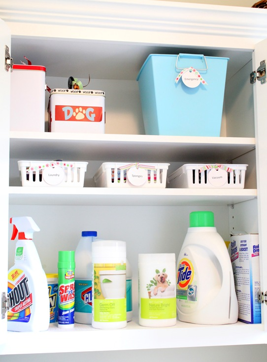 An Organized Laundry Room