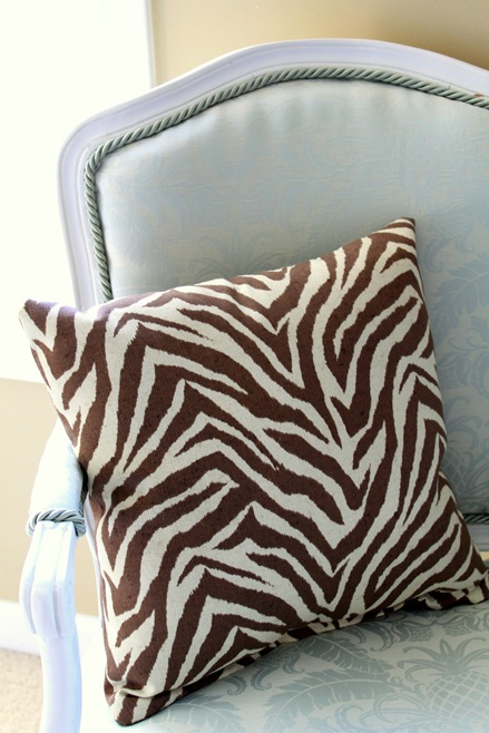 brown zebra pillow