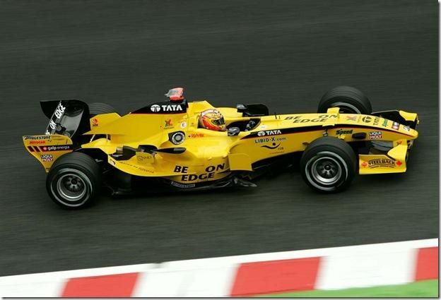 F1DataBase - Tiago Monteiro, Jordan - Bélgica 2005