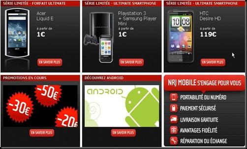 offres Nrj Mobile