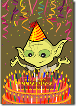 star wars birthday yoda candles