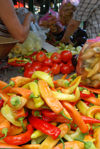 Peppers, Macedonian open air market