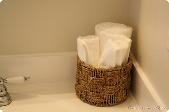 Master Bath Towel Basket