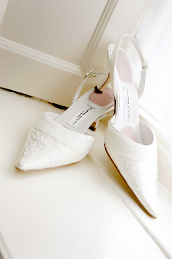 Filippa Scott wedding shoes, kitten heel