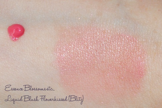 Essence Blossoms etc... Liquid Blush Flowerkissed Swatch (Blitz)