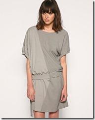 asymmetric stripe dress
