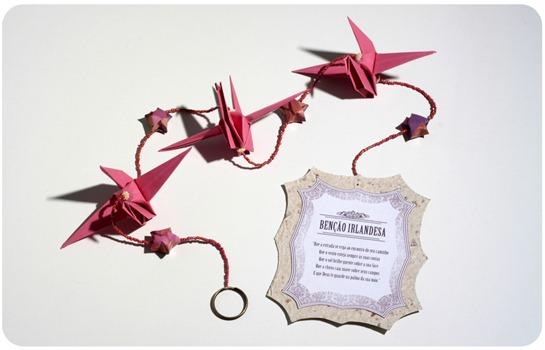 Móbile de origami - Tsuru